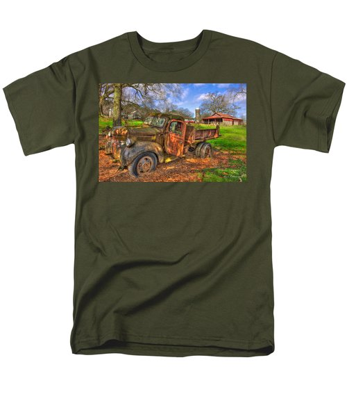 The Resting Place 2 Boswell Farm 1947 Dodge Dump Truck Men's T-Shirt  (Regular Fit) by Reid Callaway