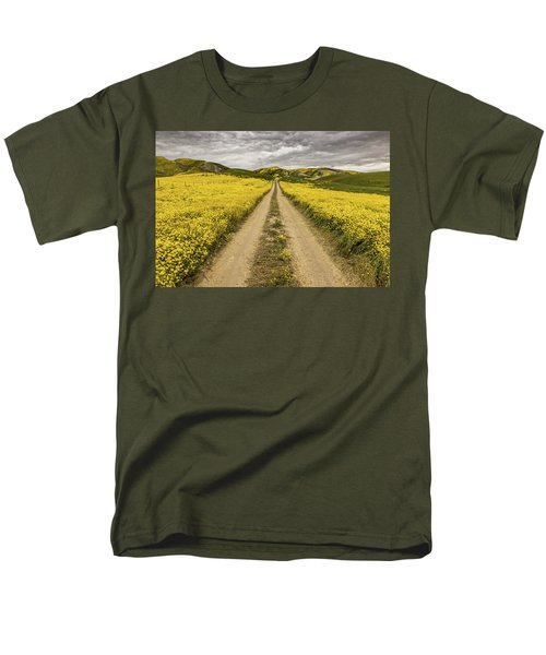 Men's T-Shirt  (Regular Fit) featuring the photograph The Road Less Pollenated by Peter Tellone