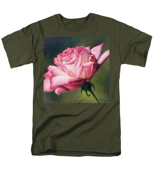 Men's T-Shirt  (Regular Fit) featuring the painting The Rose by Lori Brackett
