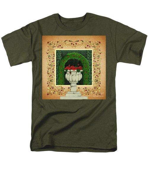 The Roses Urn Men's T-Shirt  (Regular Fit) by Donna Huntriss