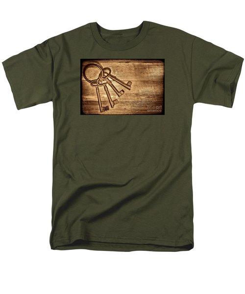 The Sheriff Jail Keys Men's T-Shirt  (Regular Fit) by American West Legend By Olivier Le Queinec