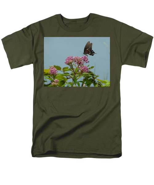 Men's T-Shirt  (Regular Fit) featuring the photograph The Spicebush Swallowtail Of Prettyboy Reservoir by Donald C Morgan