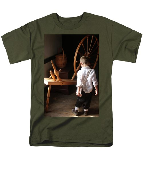 Men's T-Shirt  (Regular Fit) featuring the photograph The Spinning Wheel by Emanuel Tanjala
