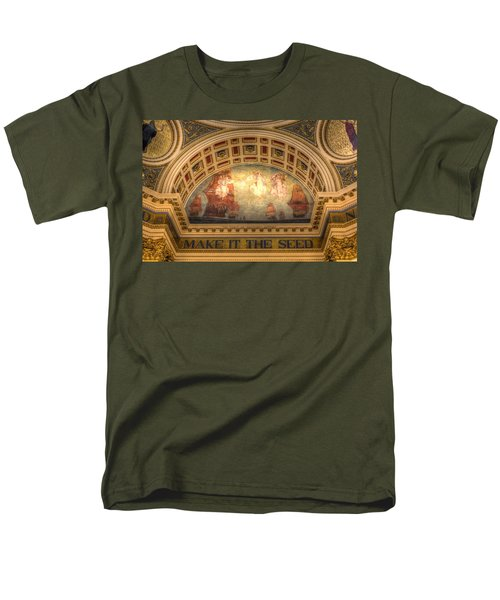 Men's T-Shirt  (Regular Fit) featuring the photograph The Spirit Of Religious Liberty by Shelley Neff