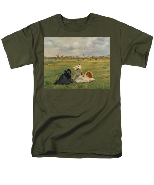 The Swallows Men's T-Shirt  (Regular Fit) by Edouard Manet
