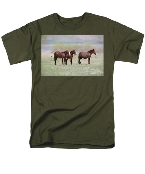 Men's T-Shirt  (Regular Fit) featuring the photograph The Three Amigos by Benanne Stiens