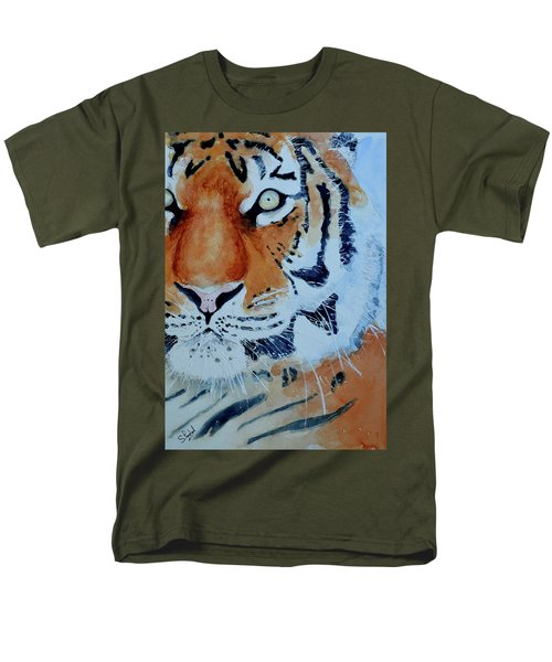 The Tiger Men's T-Shirt  (Regular Fit) by Steven Ponsford