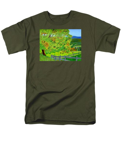 Men's T-Shirt  (Regular Fit) featuring the painting The Tree Of Joy by Magdalena Frohnsdorff
