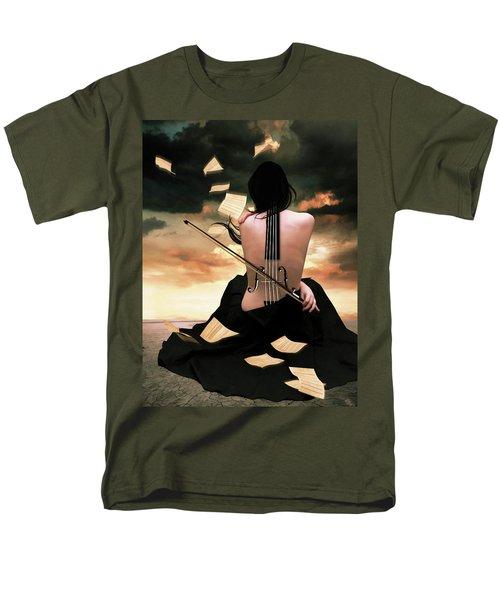 The Violin Song Men's T-Shirt  (Regular Fit) by Mihaela Pater