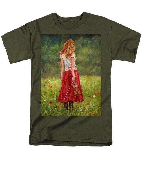 The Violinist Men's T-Shirt  (Regular Fit) by David Stribbling
