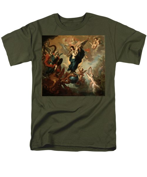 Men's T-Shirt  (Regular Fit) featuring the painting The Virgin Of The Apocalypse by Miguel Cabrera