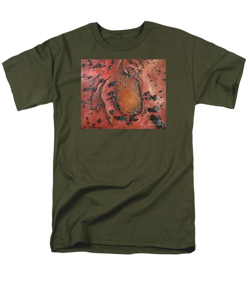 Men's T-Shirt  (Regular Fit) featuring the painting The Watering Hole - Original Sold by Therese Alcorn