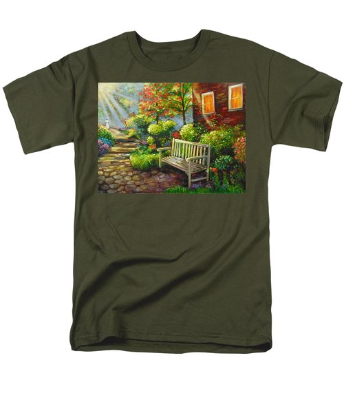 Men's T-Shirt  (Regular Fit) featuring the painting The Way Home by Emery Franklin