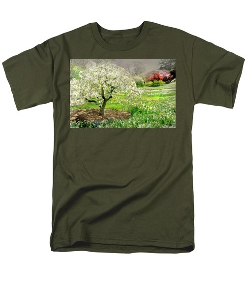 Men's T-Shirt  (Regular Fit) featuring the photograph The White Canopy by Diana Angstadt