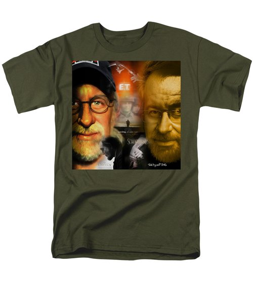 Men's T-Shirt  (Regular Fit) featuring the digital art The World Of Steven Spielberg by Ted Azriel