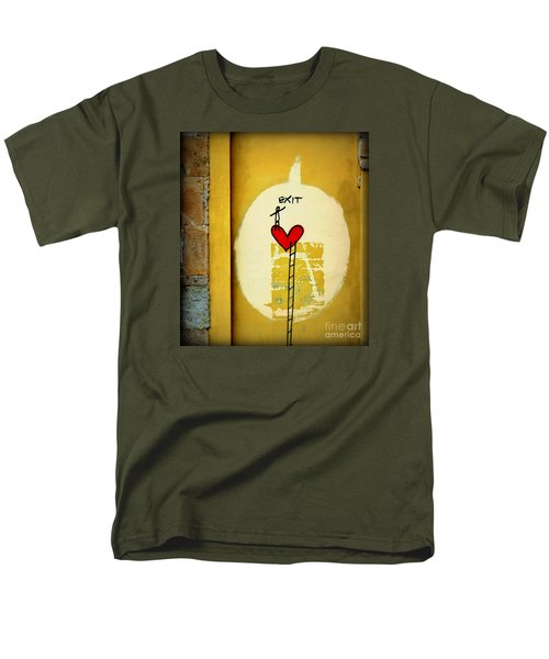 Men's T-Shirt  (Regular Fit) featuring the photograph The Writing On The Wall by Tanya Searcy