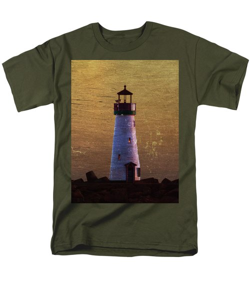 Men's T-Shirt  (Regular Fit) featuring the photograph There Is A Lighthouse by B Wayne Mullins