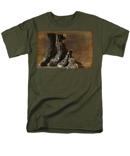These Boots Are Made For Walking Men's T-Shirt  (Regular Fit) by Liane Wright