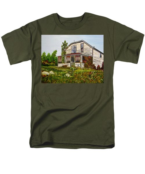 Men's T-Shirt  (Regular Fit) featuring the painting This Old House by Marilyn  McNish