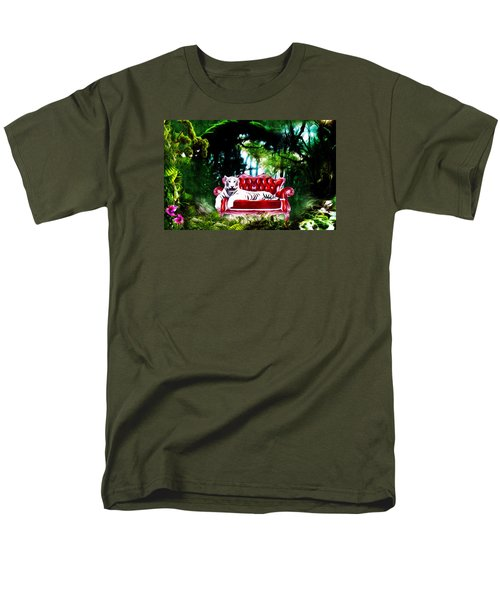 Men's T-Shirt  (Regular Fit) featuring the mixed media This Place Is Reserved For The Boss by Gabriella Weninger - David