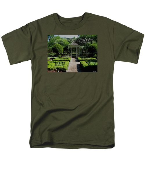 Thomas Jefferson On Gardens Men's T-Shirt  (Regular Fit) by Deborah Dendler