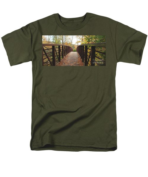 Thompson Park Bridge Stowe Vermont Men's T-Shirt  (Regular Fit) by Felipe Adan Lerma