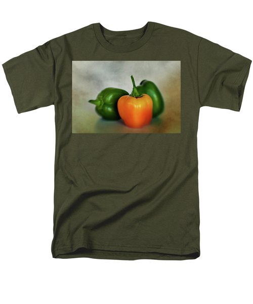 Men's T-Shirt  (Regular Fit) featuring the photograph Three Bell Peppers by David and Carol Kelly
