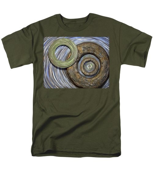 Men's T-Shirt  (Regular Fit) featuring the painting Threes A Crowd by Jacqueline Athmann