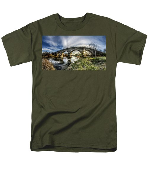 Tiffany Bridge Panorama Men's T-Shirt  (Regular Fit) by Randy Scherkenbach