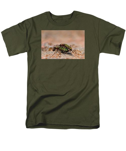 Men's T-Shirt  (Regular Fit) featuring the photograph Tiger Beetle by Richard Patmore