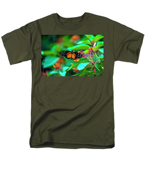 Men's T-Shirt  (Regular Fit) featuring the photograph Tiger Longwing Butterfly by David Morefield