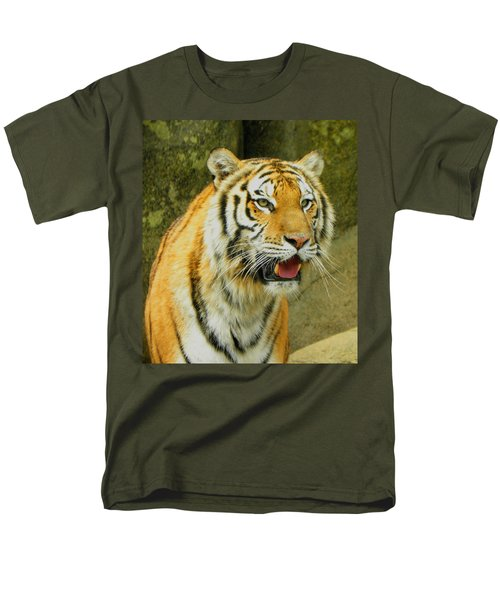 Men's T-Shirt  (Regular Fit) featuring the photograph Tiger Stare by Sandi OReilly