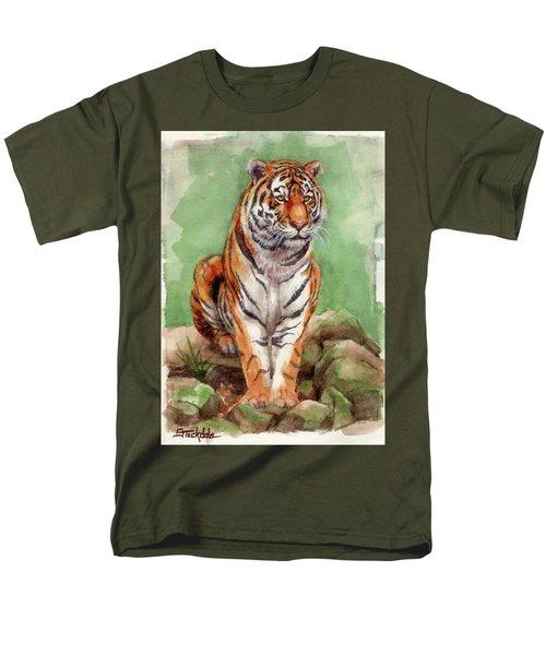 Tiger Watercolor Sketch Men's T-Shirt  (Regular Fit)