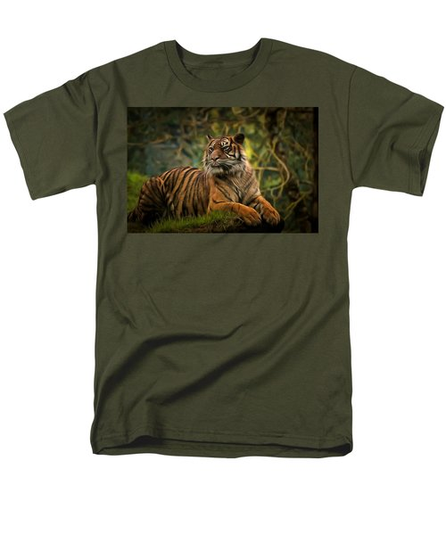 Men's T-Shirt  (Regular Fit) featuring the photograph Tigers Beauty by Scott Carruthers