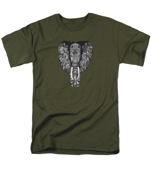 Tiled Elephants Men's T-Shirt  (Regular Fit) by Kathleen Sartoris