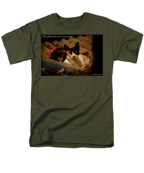 Time Spent With Cats. Men's T-Shirt  (Regular Fit) by Salman Ravish