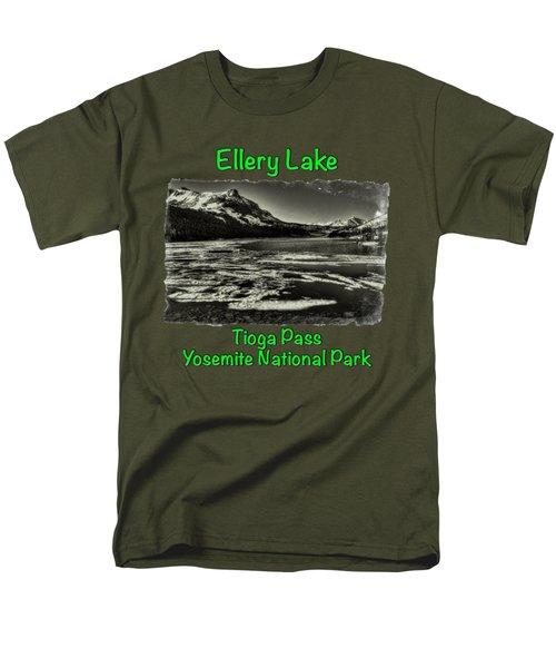 Tioga Pass Lake Ellery Early Summer Men's T-Shirt  (Regular Fit) by Roger Passman