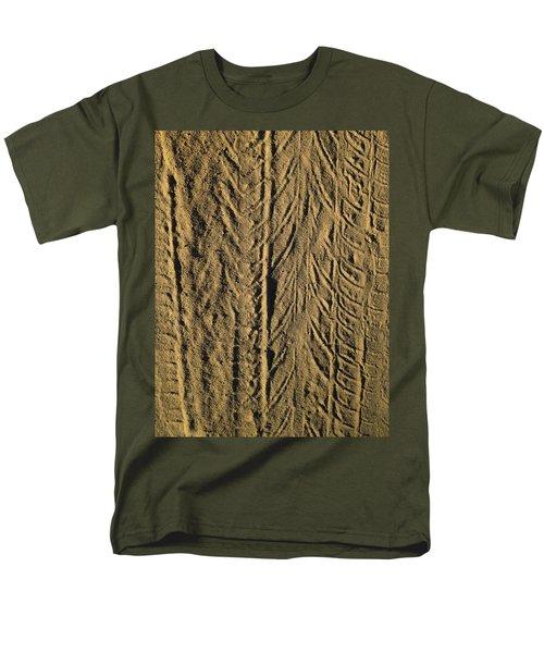 Men's T-Shirt  (Regular Fit) featuring the photograph Tire Tracks by R  Allen Swezey