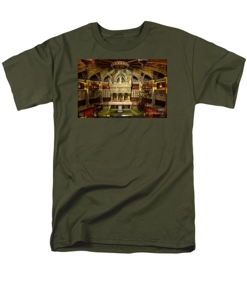 Tomb Of Saint Eulalia In The Crypt Of Barcelona Cathedral Men's T-Shirt  (Regular Fit) by RicardMN Photography