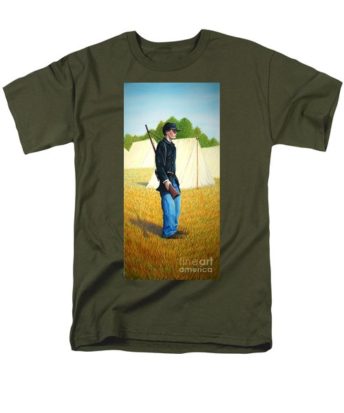 Men's T-Shirt  (Regular Fit) featuring the painting Too Young by Stacy C Bottoms