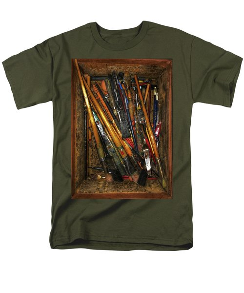 Men's T-Shirt  (Regular Fit) featuring the photograph Tools Of The Painter by Jame Hayes