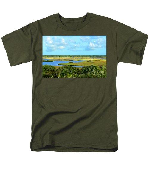 Topsail Island Marshland Men's T-Shirt  (Regular Fit)