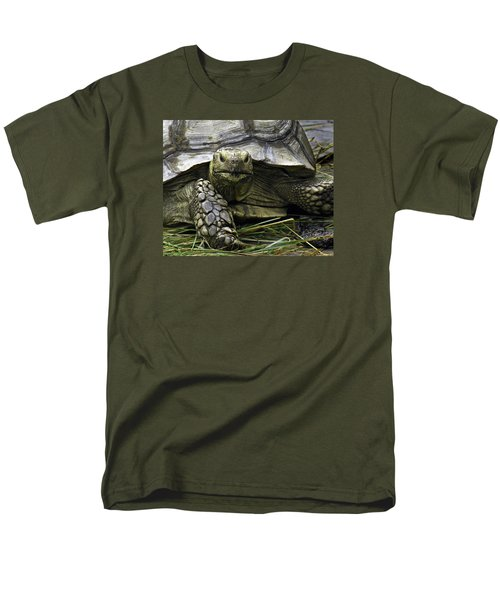 Men's T-Shirt  (Regular Fit) featuring the photograph Tortoise's Stare by Betty Denise