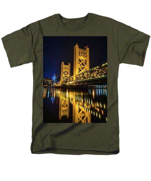 Tower Reflections Men's T-Shirt  (Regular Fit) by Alpha Wanderlust
