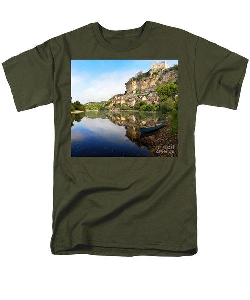 Town Of Beynac-et-cazenac Alongside Dordogne River Men's T-Shirt  (Regular Fit)