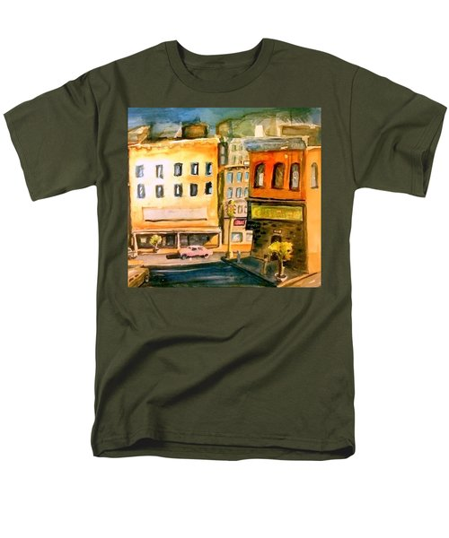 Men's T-Shirt  (Regular Fit) featuring the painting Town by Steven Holder