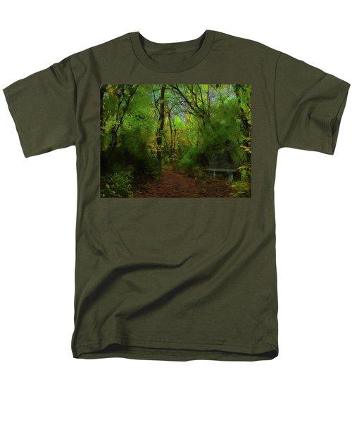 Trailside Bench Men's T-Shirt  (Regular Fit) by Cedric Hampton