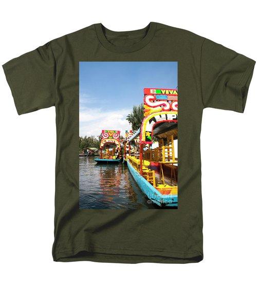 Trajineras Men's T-Shirt  (Regular Fit) by Ana Mireles