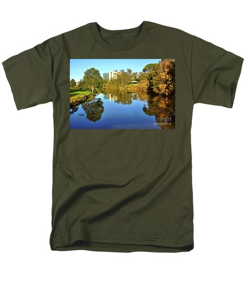 Men's T-Shirt  (Regular Fit) featuring the photograph Tranquil River By Kaye Menner by Kaye Menner