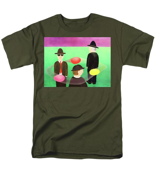 Men's T-Shirt  (Regular Fit) featuring the painting Traveling In The Right Business Circles by Thomas Blood